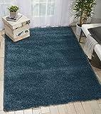 Nourison MSG01 Malibu Shag Area Rug, 9'X12' , BLUE