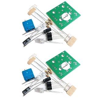 HiLetgo® - Juego de 2 unidades de luces LED para flash y circuito de producción