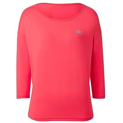 SPORTKIND Loose Fit Shirt aux Manches 3 4 pour Tennis Fitness Yoga pour  Filles et Femmes  Amazon.fr  Sports et Loisirs 67a49be8508
