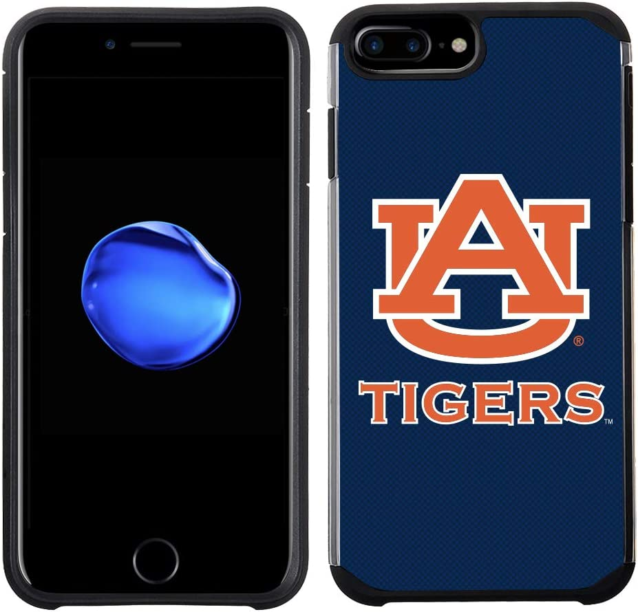 Prime Brands Group Textured Team Color Cell Phone Case for Apple iPhone 8 Plus/7 Plus/6S Plus/6 Plus - NCAA Licensed Auburn University Tigers,NCAA-TX1-i8P-UOA