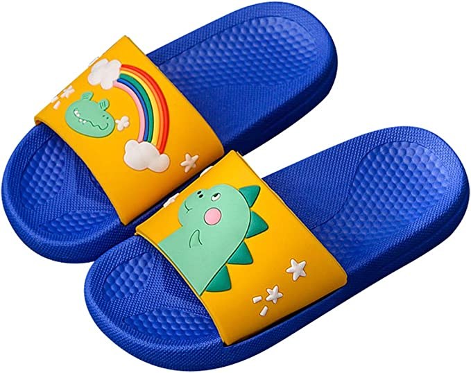 Kids Boys Gilrls Summer Beach Rainbow Soft Shower Sliders Slide Slippers Shoes