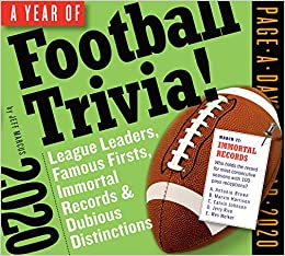Football Calendar 2020 Year of Football Trivia! Page A Day Calendar 2020: Jeff Marcus