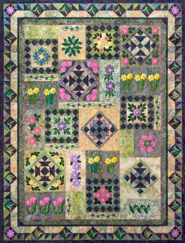 Amazon Feels Like Spring Machine Embroidery Quilt Pattern And