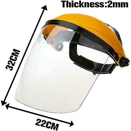 lente transparente m/áscara de soldadura NIVNI antigolpes Casco de soldar para protecci/ón laboral anti rayos UV