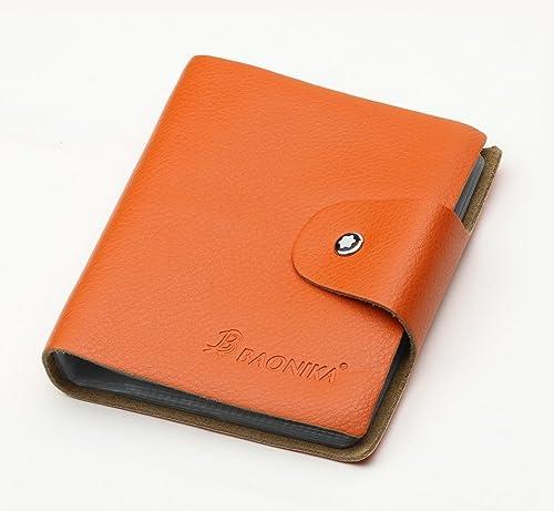 8dc418265ee9 Amazon | 10色 本革 BONIKA ブランド カードケース 60ポケット(最大120枚 ...