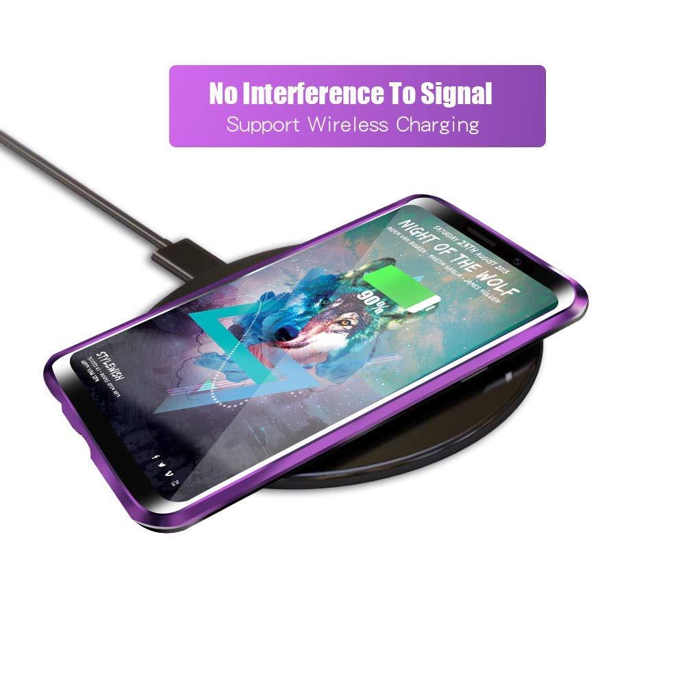 para Huawei p30 Pro Cover Case-Negro Tecnolog/ía De Absorci/ón Magn/ética Funda Huawei p30 Pro, Clear Tempered Glass Back Slim Fit Ultra Carcasa de Peso Ligero Marco de Metal