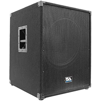 "Seismic Audio - Aftershock-18 - Powered PA 18"" Subwoofer Speaker Cabinet"