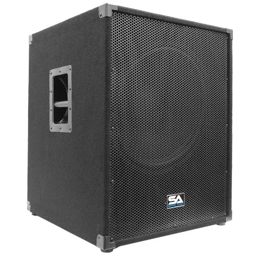 Seismic Audio - Aftershock-18 - Powered PA 18'' Subwoofer Speaker Cabinet by Seismic Audio