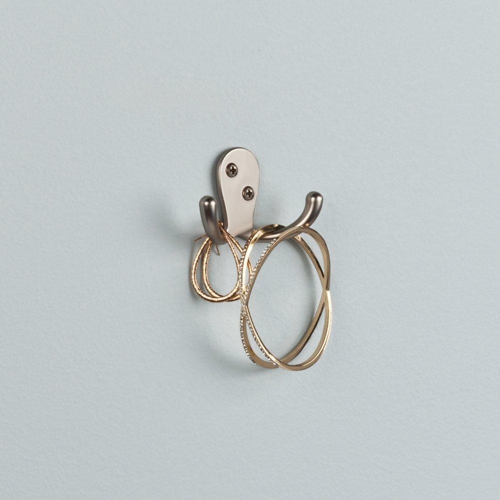 Franklin Brass FBDPRH5-MN-C Double Prong Robe Hook, 5-Pack, Matte Nickel, 5 Count