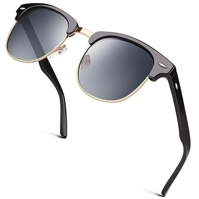 GQUEEN Gafas de sol polarizadas Hombre Mujer Bocina enculado ...