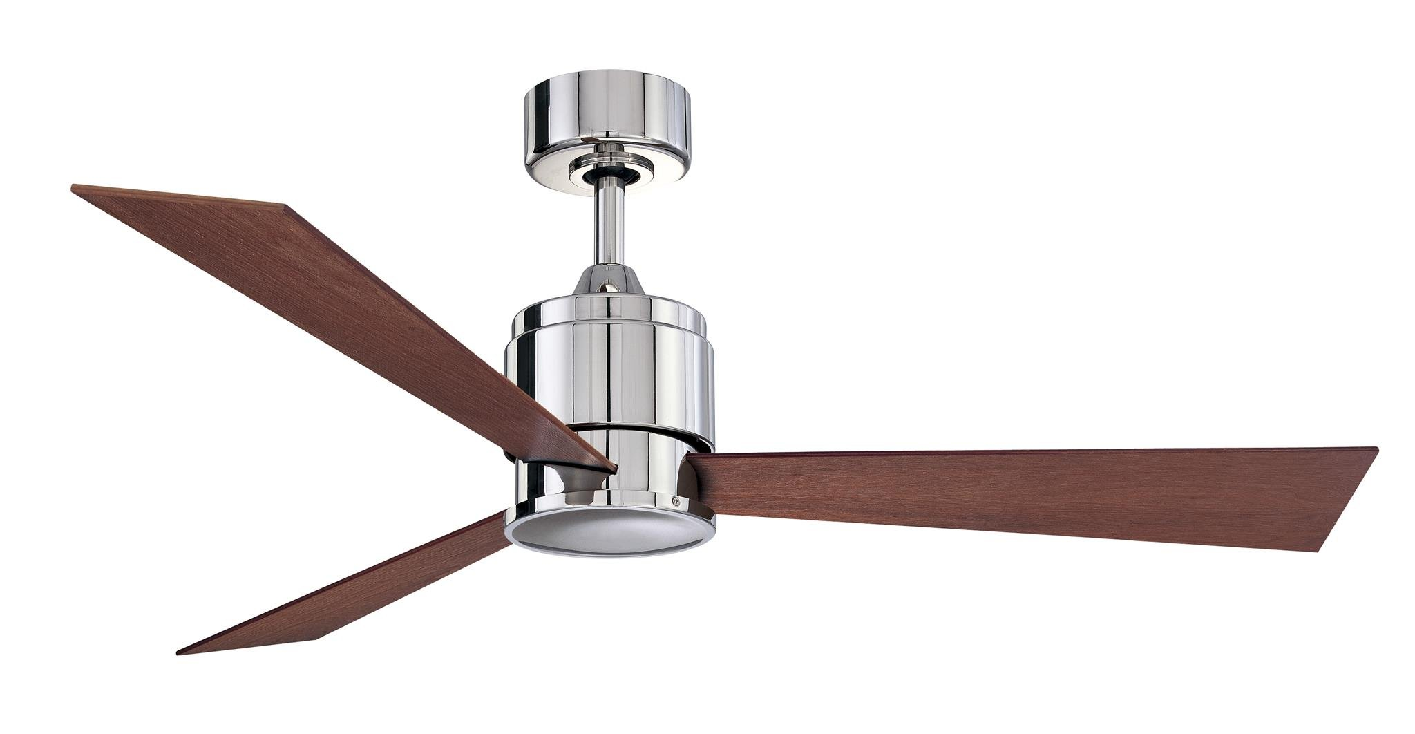 Fanimation Zonix - 54 inch - Polished Nickel with Cherry/Walnut Reversible Blades and Wall Control - FP4620PN by Fanimation
