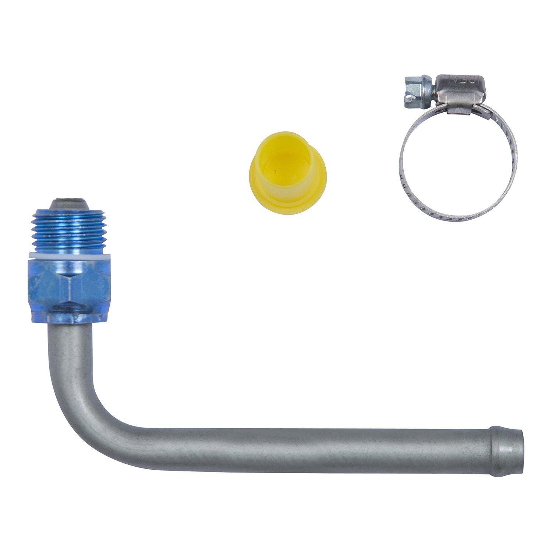 Edelmann 39104 Power Steering Line End Fitting; 16mm Swivel O-Ring x 3/8 Beaded Tube - 90 degree