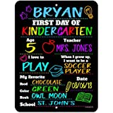 Honey Dew Gifts First Day of School Chalkboard Style Photo Prop Tin Sign - 9 x 12 inch Reusable Easy Clean Back to School - USE Liquid Chalk Markers to Customize (Not Included)