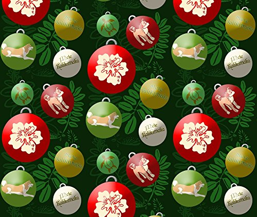 Akita Fabric Mele Kalikimaka by Hakuai Printed on Satin Fabric by the Yard by - Satin Mela