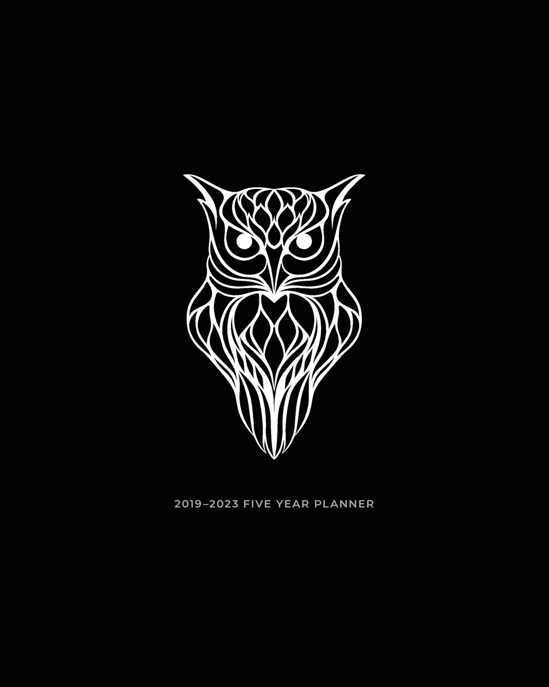 Amazon.com: 2019 - 2023 Five Year Planner: Owl 2019 Planner ...