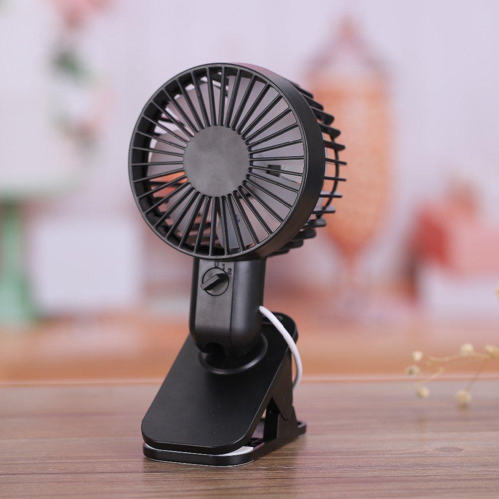Mini Portable Clip Fans,MeiLiio Summer Mini Fan 2 Speed Adjustable Desk Fan for Baby room
