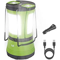 LE LED Camping Lantern Rechargeable, 600LM, Detachable Flashlight, Perfect Lantern Flashlight for Hurricane Emergency…