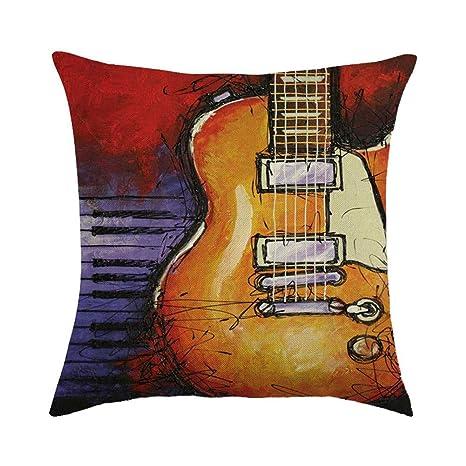 Vioness - Funda de cojín para Guitarra (45 x 45 cm, 9 ...