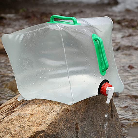 LIOOBO Collapsible Water Container Camping Water Storage Carrier Jug Portable Water Tank Drinking Water Bucket 20L 2 Pcs