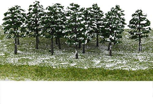dailymall モデルツリートレインセットプラスチックトランクス雪景色風景1:100 20ピース/個