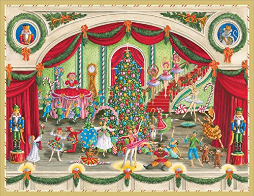 Entertaining with Caspari Ballet Christmas Cards (Box of (16 Christmas Boxed Cards)