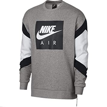 huge selection of c6983 b687f Nike M NSW Air Crew FLC, Pull Homme, Gris (DK Grey Heather