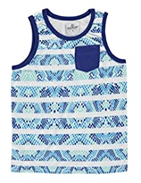 "Akademiks Big Boys' ""Reptilian Striped"" Tank Top"