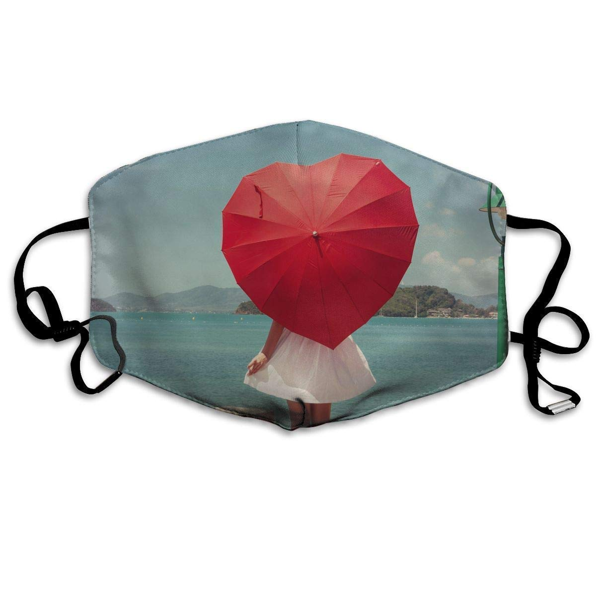 Dustproof Face Mouth Cover Mask - Windproof Reirator Valentines's y Girl Print Earloop Mask