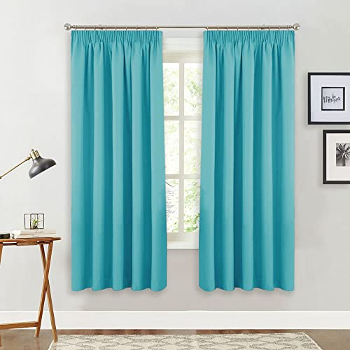 PONY DANCE Decorative Window Curtains   Pencil Plain Noise Reducing Room  Darkening Curtain Drapery For Living