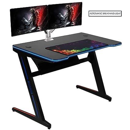 Amazon.com: Kinsal - Mesa de escritorio para videojuegos con ...