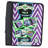 Case-it Z-Binder Two-in-One 1.5-Inch D-Ring Zipper Binders, Chevron, Z-178-P