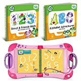 LeapFrog LeapStart Preschool To 1st Grade Learning System Pink Plus Level 1 Activity Books Bundle, Learn Math & Life Skills, Alphabet & Music, Interactive Educational Toys For Kids, Early Learning