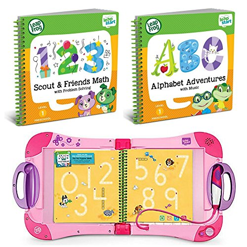 LeapFrog LeapStart Preschool to 1st Grade Learning System Pink Plus Level 1 Activity Books Bundle, Learn Math & Life Skills, Alphabet & Music, Interactive Educational Toys for Kids, Early Learning by LeapFrog (Image #7)