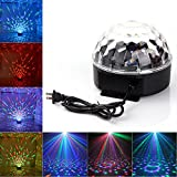 Happy Tao DJ Disco Strobe Stage Lights Rotating Magic Ball Club Bar Party LED Stage Effect Light 7 Color Auto Voice Activated Lighting