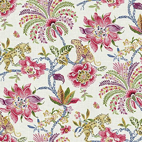 York Wallcoverings Williamsburg II Braganza Removable Wallpaper, Beige/Reds/Gold/Purple/Blue/Green/Black