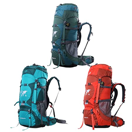 Topsky 70L Mochila Grande Cámping Excursionismo Alpinismo Trekking De viaje Mochila Waterproofs Nylon Bolsa De Viaje: Amazon.es: Deportes y aire libre
