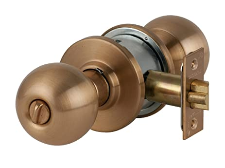 Schlage A53PD-ORB Orbit Keyed Entrance Door Knob Set, Satin Bronze ...