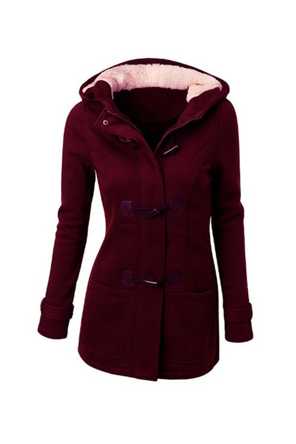 Women Plus Size Casual Pullover Fleece Hoodie Sweater Outwear Coat Jackets CAMEG415