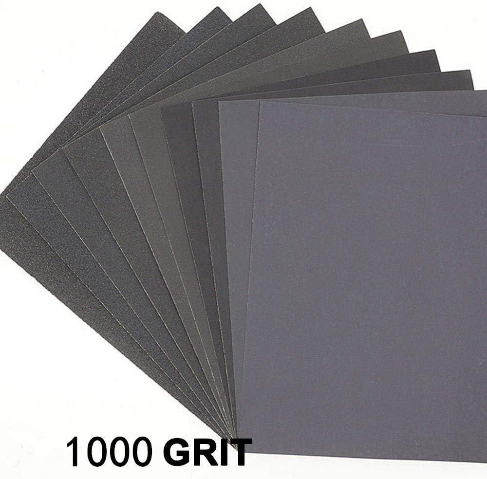 noir Lot de 2 Lot de 20 feuilles de papier abrasif pour lisser et polir les carrosseries de voiture