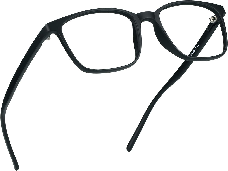 LifeArt Blue Light Blocking Glasses, Anti Eyestrain, Computer Reading Glasses, Gaming Glasses, TV Glasses for Women Men, Anti UV, Anti Glare (Black, No Magnification)