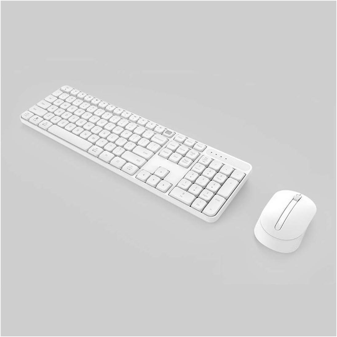 Rosing 2.4Ghz WirelessOffice Keyboard Mouse Set 104 Keys for Windows Pc Mac Compatible Portable USB Keyboard,Black