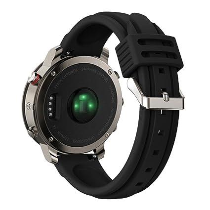 igemy correa de banda de silicona de repuesto para Garmin Fenix Chronos Reloj GPS, color