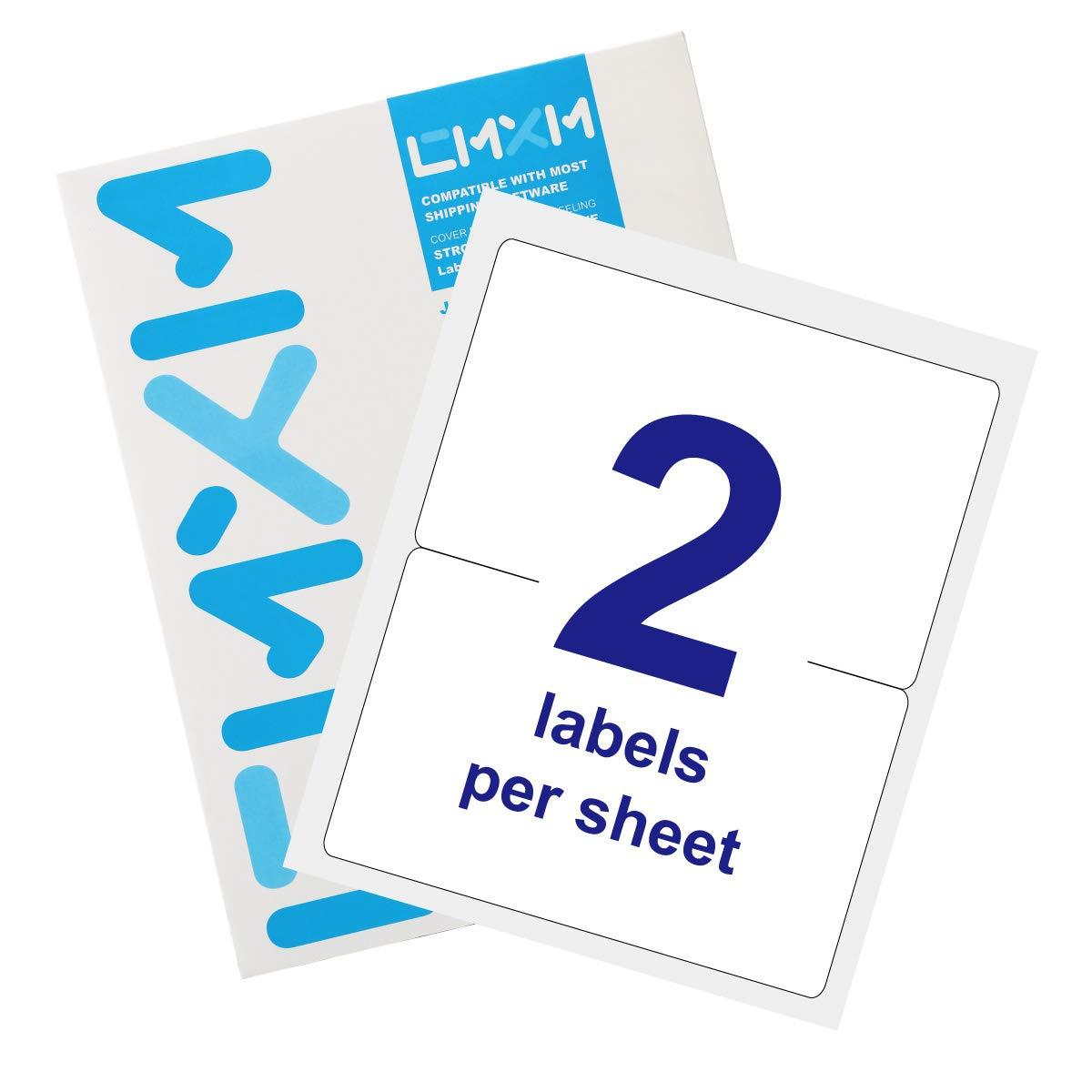 CMXM Easy Take Address Labels for Laser & Inkjet Printers 8-1/2'' x 5-1/2'',200 Labels