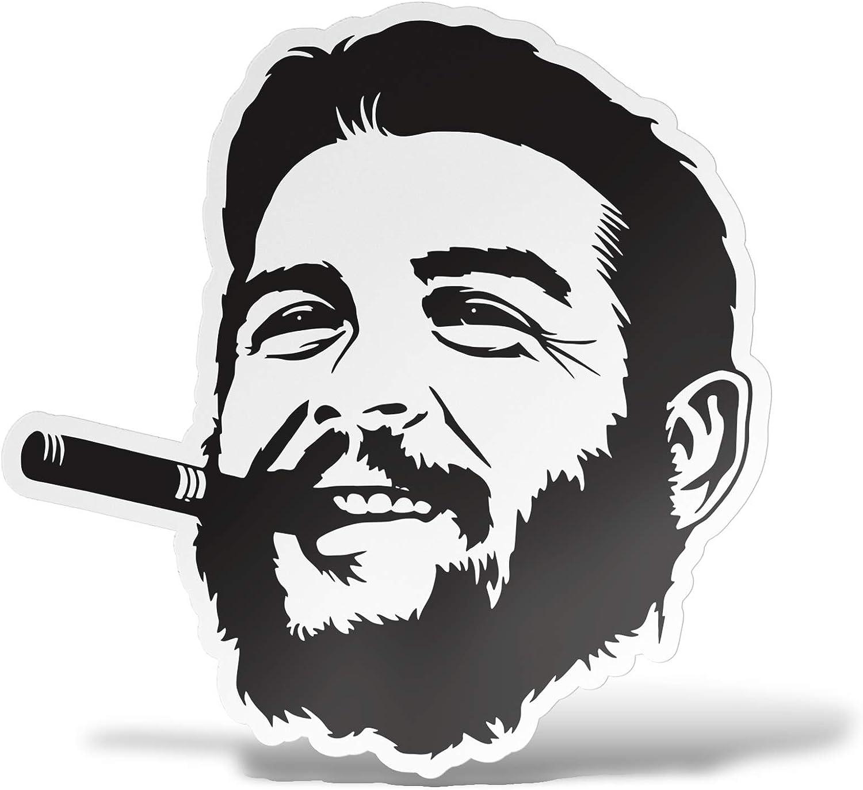 Erreinge Aufkleber Che Guevara Geformt Aufkleber Für Pvc Wandgemälde Auto Moto Helm Camper Laptop 10 Cm Auto