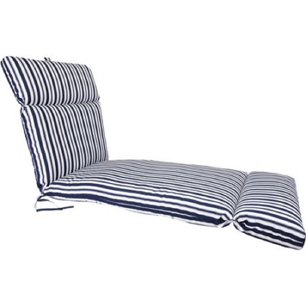 Jordan Manufacturing Stripe Outdoor French Edge Chaise Cushion
