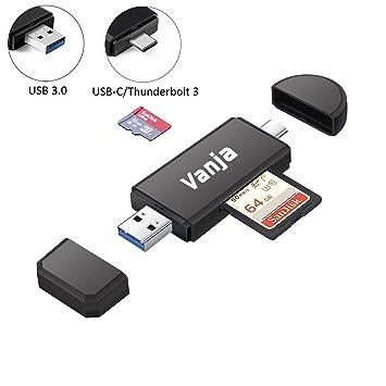 Vanja Lector de Tarjetas, USB 3.0 Tipo C Lector de Tarjetas ...