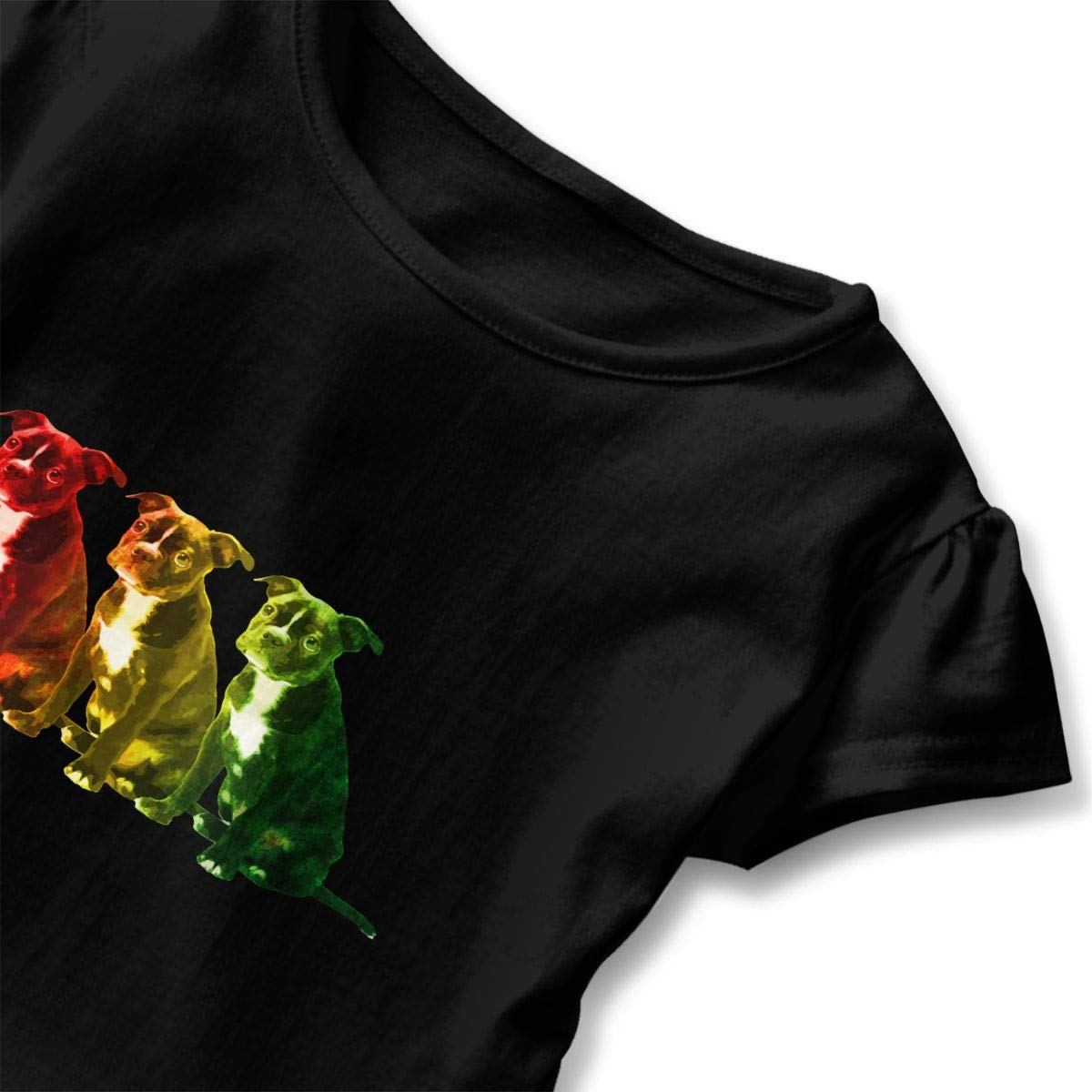 CZnuen Rasta Boston Terrier 2-6T Baby Girls Cotton Jersey Short Sleeve Ruffle Tee