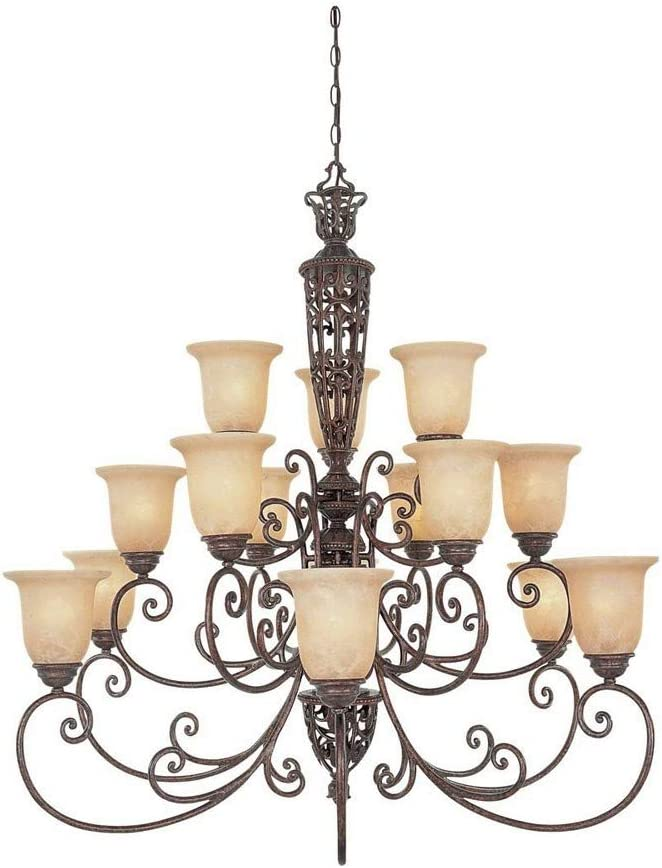 "Designers Fountain 975815-BU Amherst 15 Light Chandelier, 42"" x 42"" x 42"""