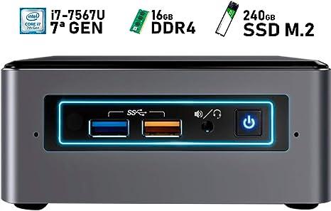 Intel NUC i7-7567U + 16GB DDR4 + 240GB SSD M.2 + Windows 10 Pro ...