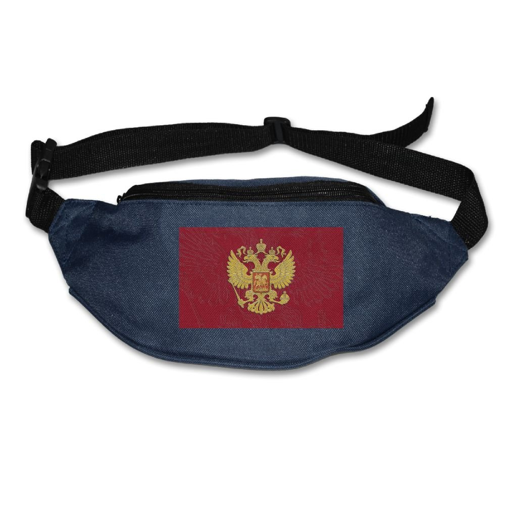 PVASAFS Yahui Russian Flag Russian Coat Of Arms Waist Bag Fanny Pack/Hip Pack Bum Bag For Man Women Sports Travel Running Hiking/Money IPhone 6/7 6S/7S Plus Samsung S5/S6